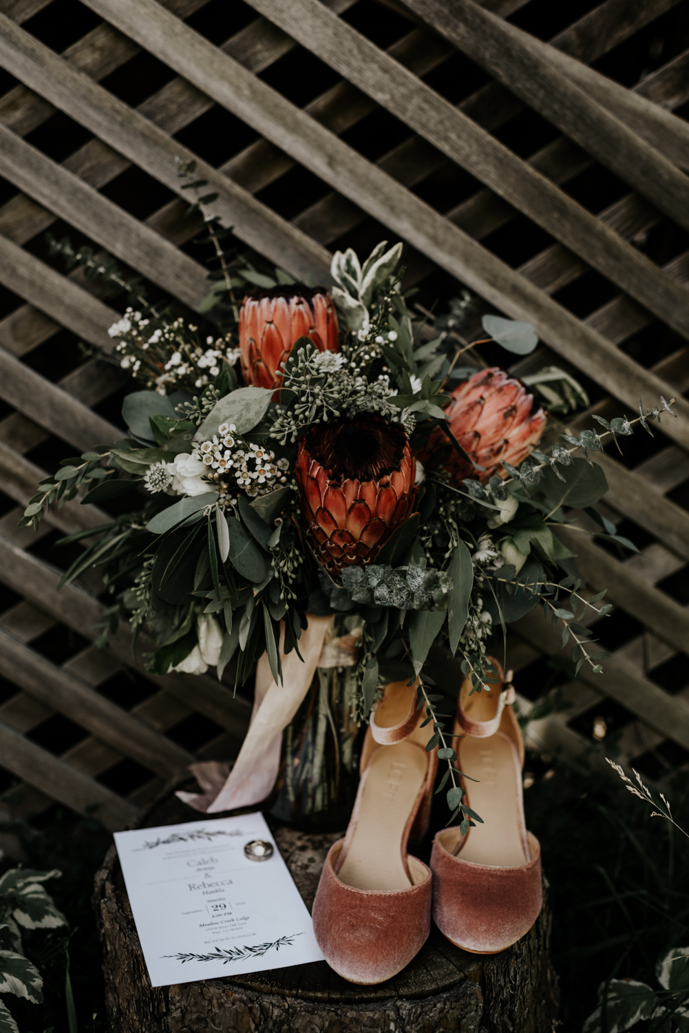 Intimate Wedding Day Bridal Details Photos at Meadow Creek, Pine in Colorado