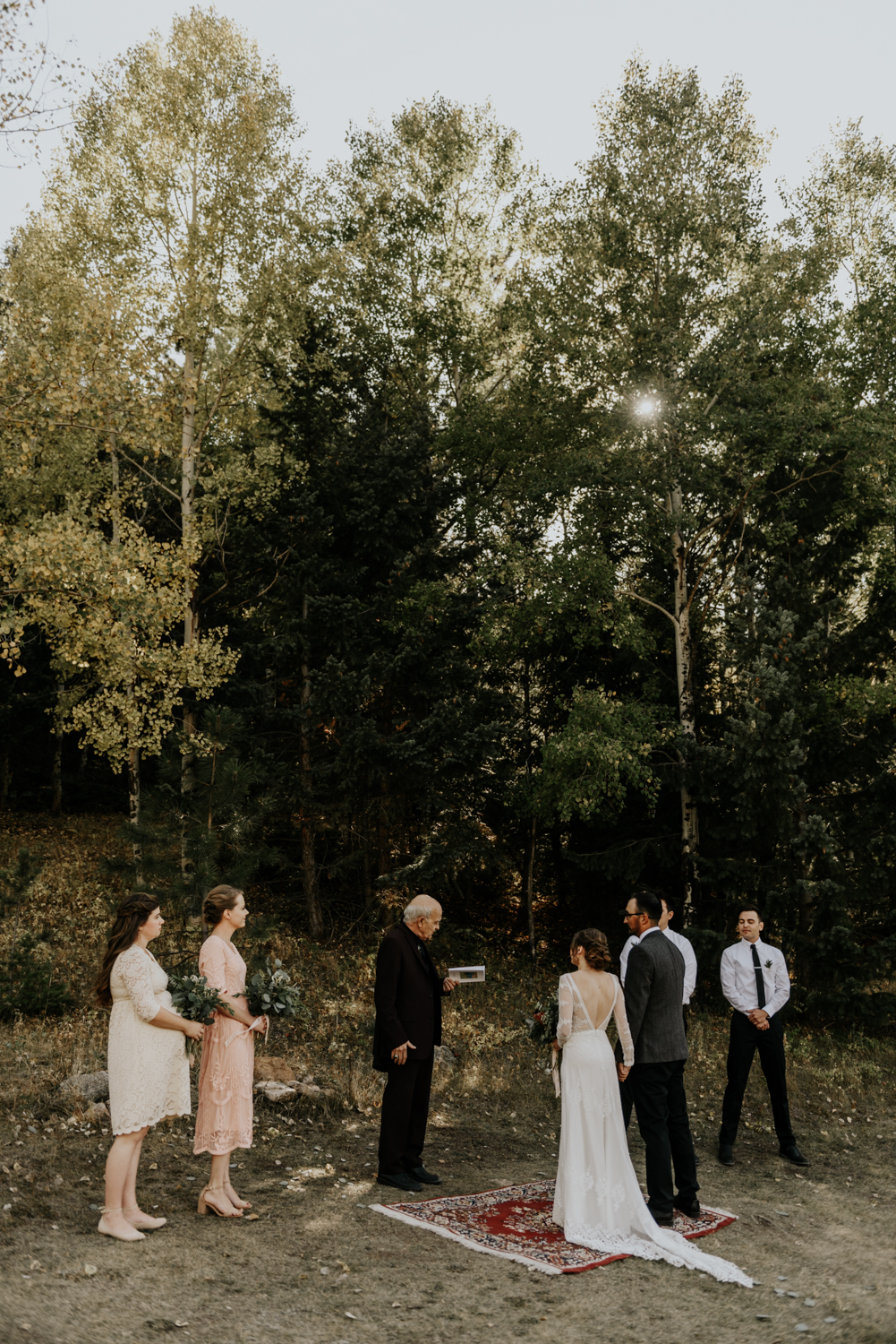 Intimate Mountain Wedding Ceremony Moments Photos in Meadow Creek, Pine Colorado