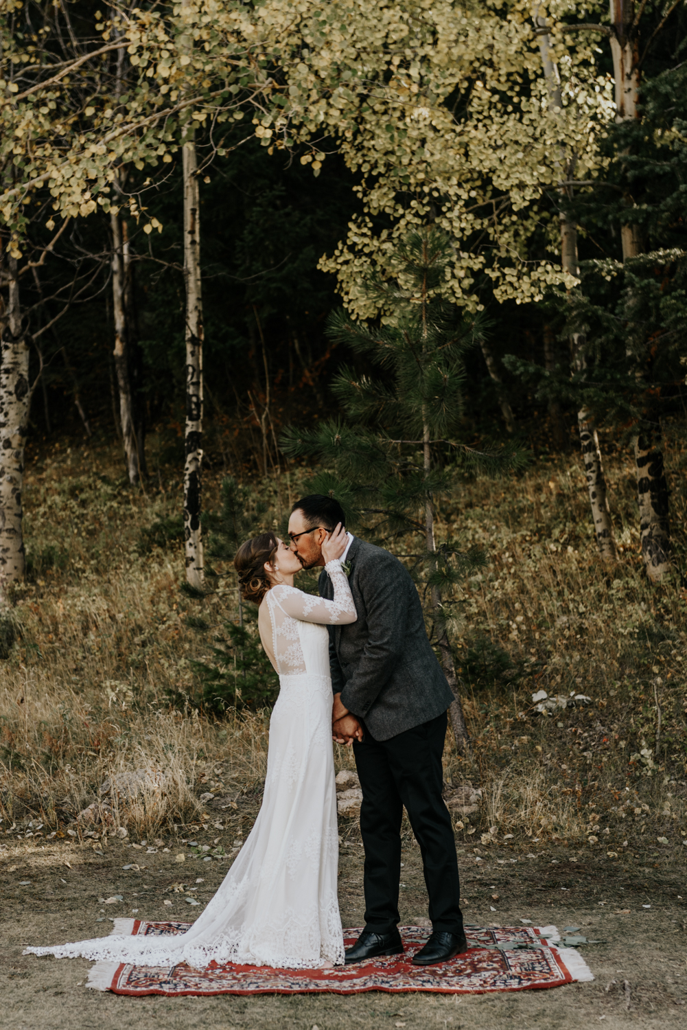 Intimate Mountain Wedding Ceremony Photos in Meadow Creek, Pine Colorado