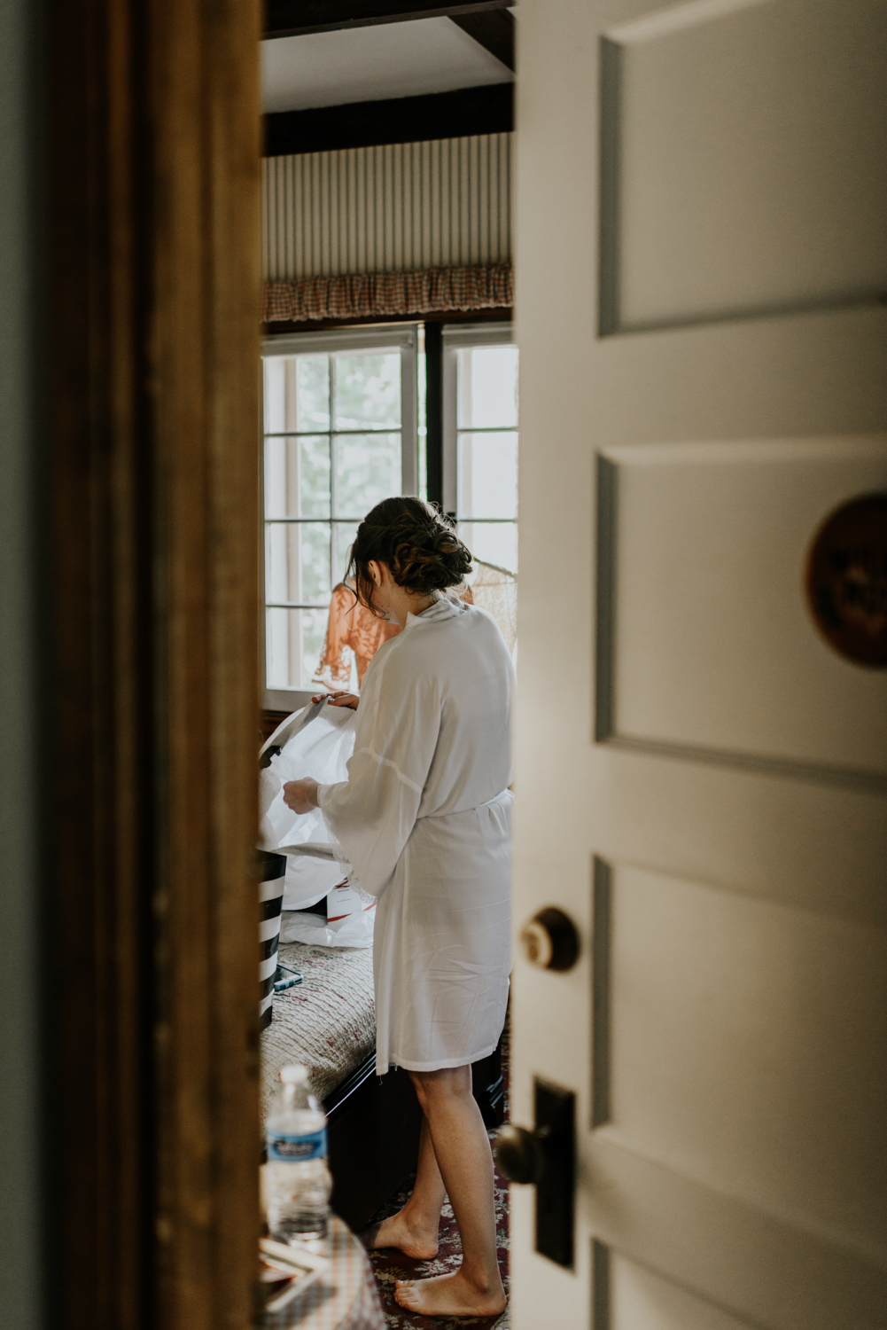 Intimate Wedding Day Getting Ready Photos at Meadow Creek, Pine in Colorado