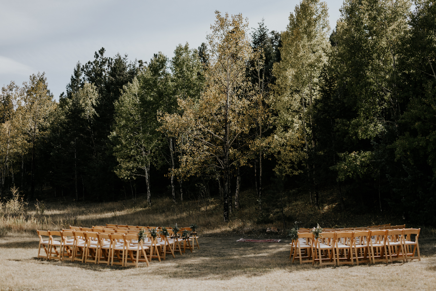 Intimate Mountain Wedding Ceremony Site Photos in Meadow Creek, Pine Colorado