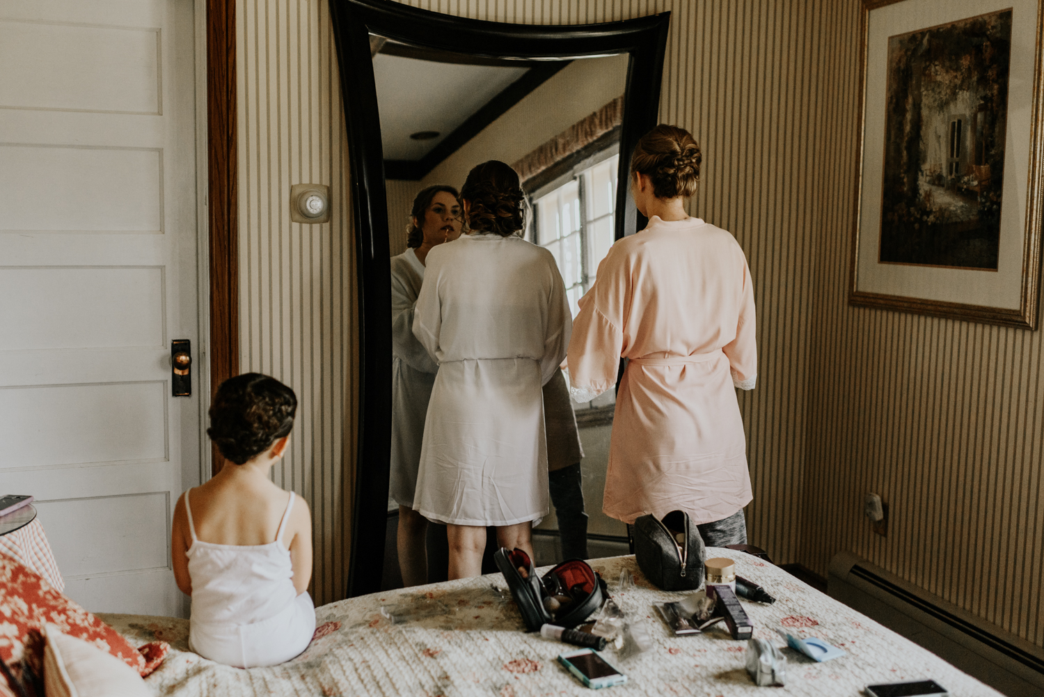 Intimate Wedding Day Bride Getting Ready Photos at Meadow Creek, Pine in Colorado