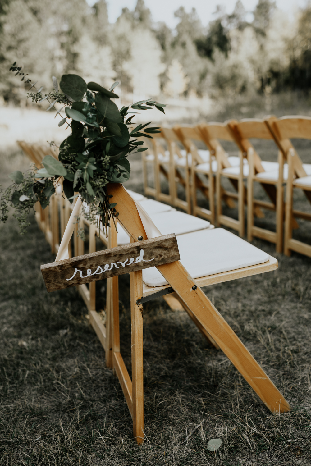 Intimate Mountain Wedding Ceremony Decor Photos in Meadow Creek, Pine Colorado