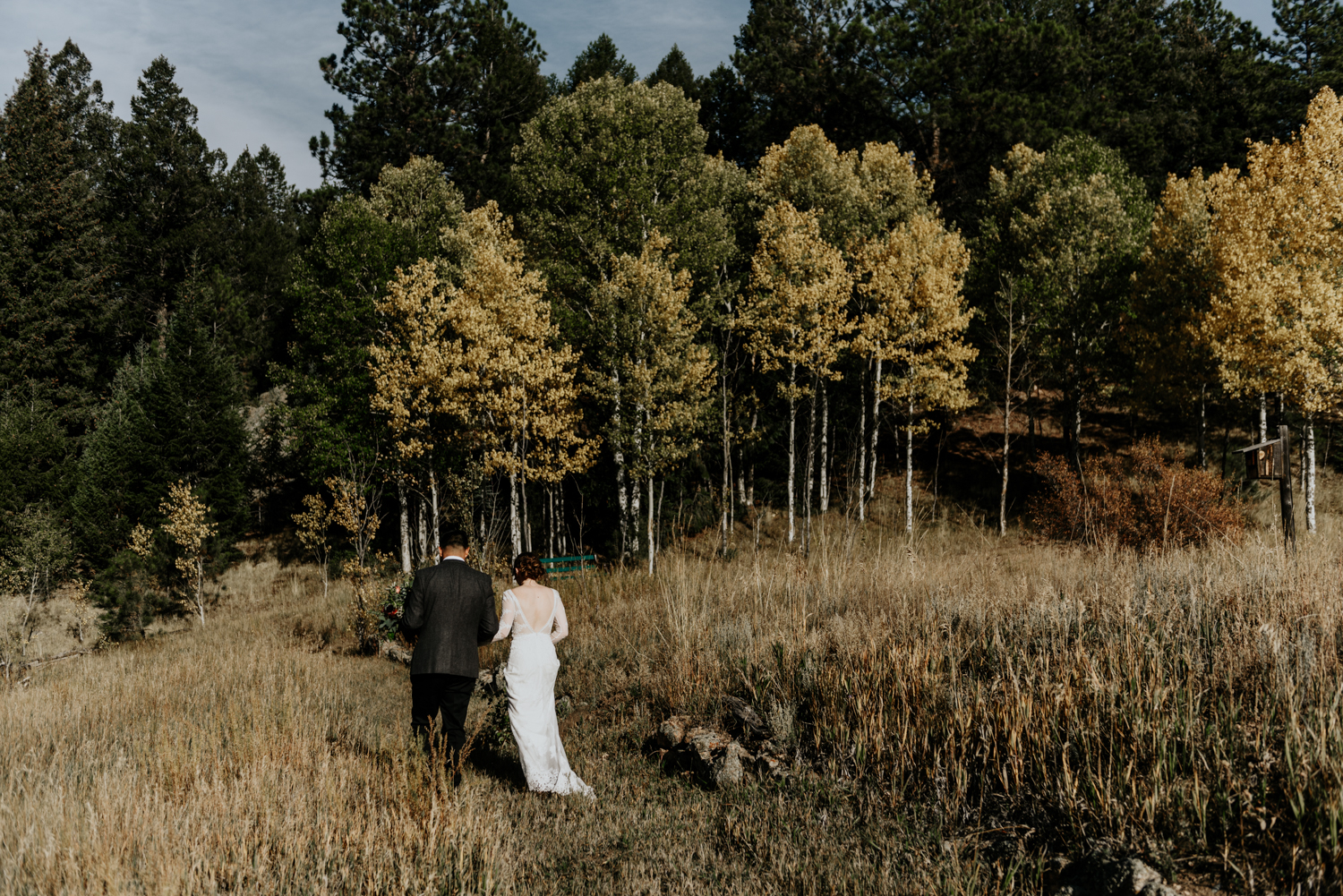 Intimate Mountain Wedding Photos in Meadow Creek, Pine Colorado
