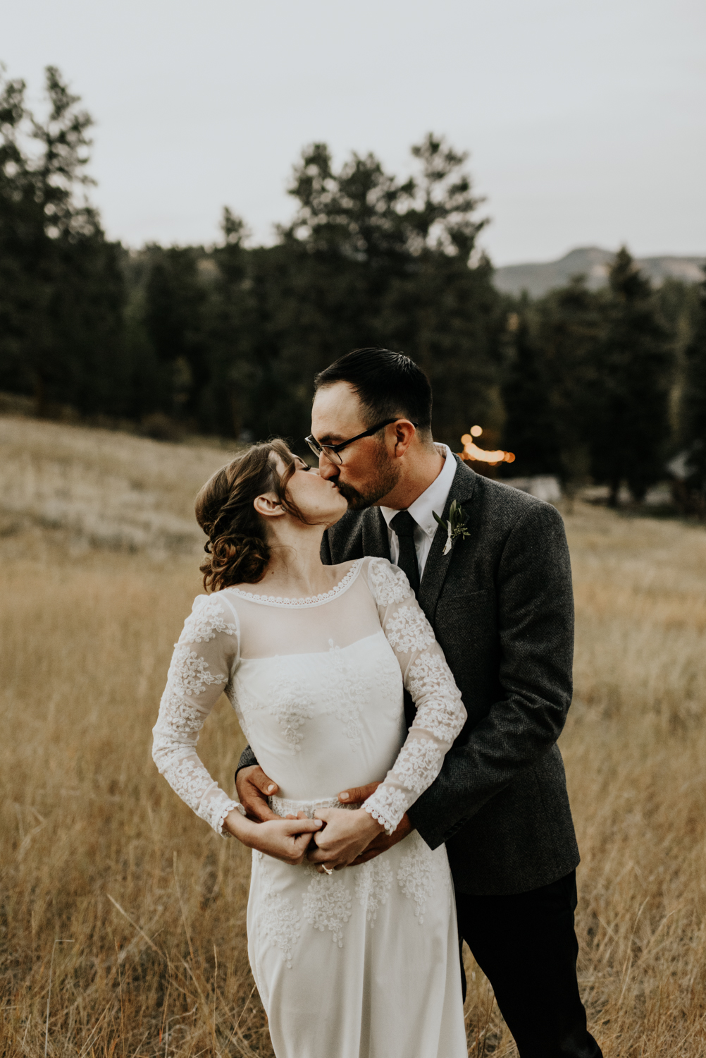 Intimate Mountain Wedding Photographer, Meadow Creek, Pine Colorado