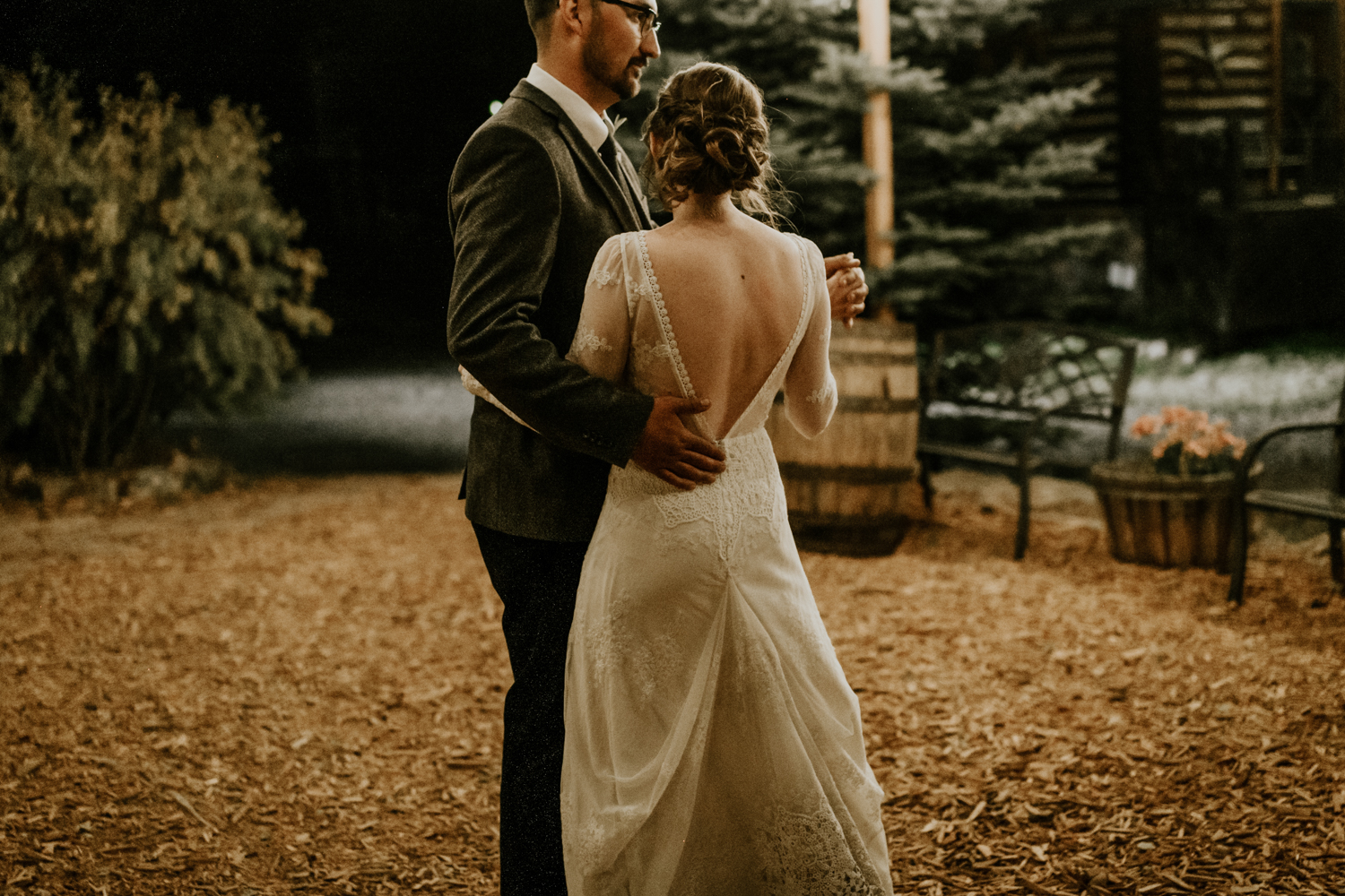 Intimate Mountain Wedding Romantic First Dance Photos, Meadow Creek, Pine Colorado