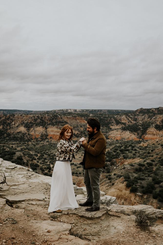 Desert Adventure Elopement Photographer in Palo Duro Canyon, Texas
