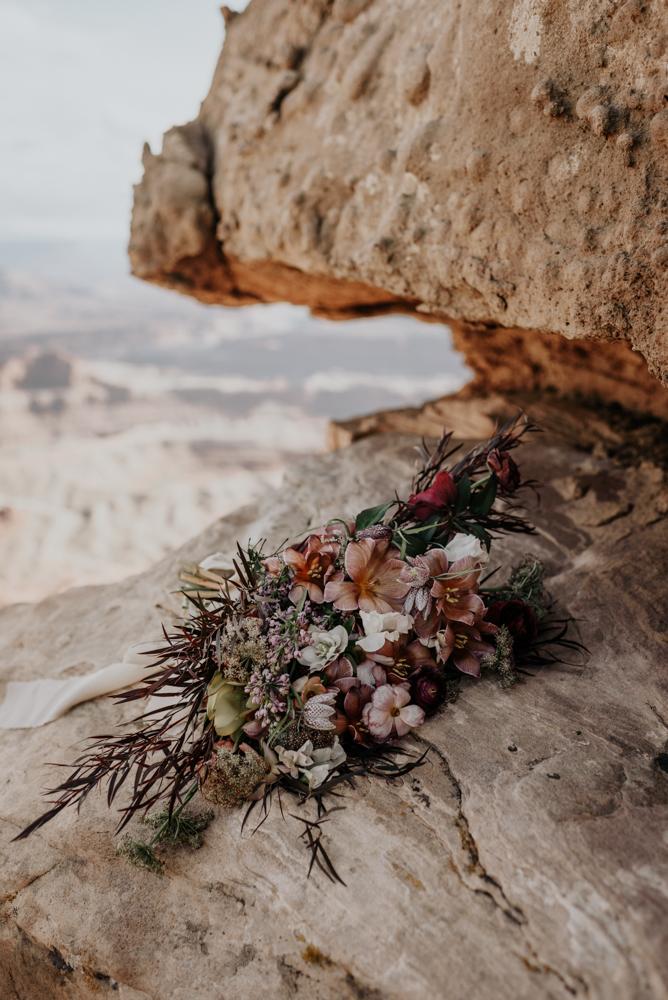 Dead Horse Point Elopement Wedding Bouquet