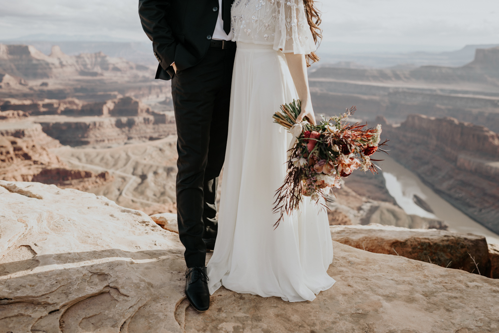 Moab Elopement Wedding Day Details