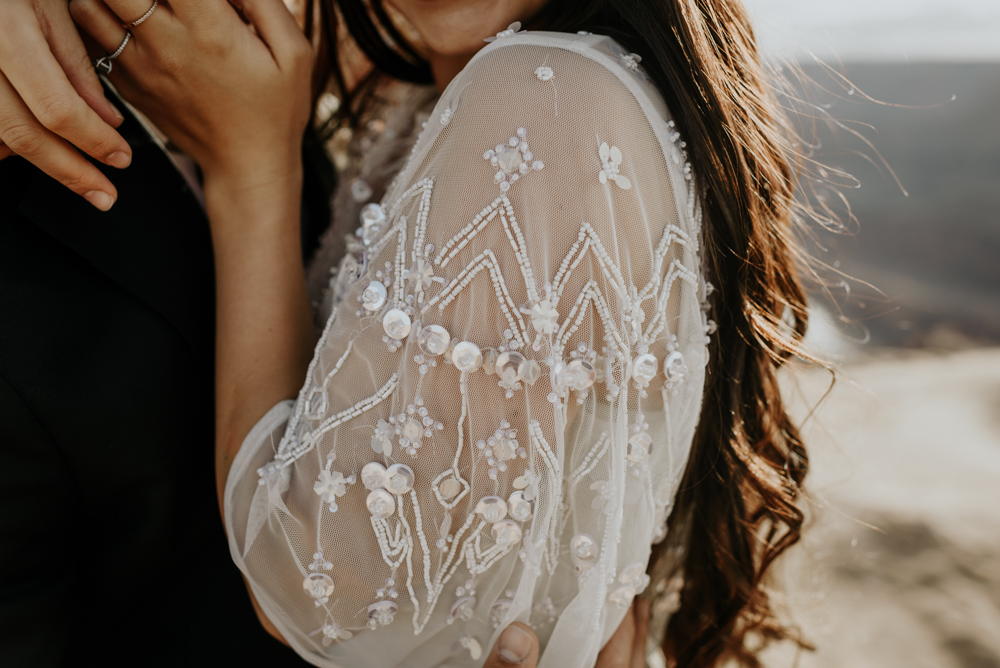 The perfect wedding dress to elope in Moab, Utah