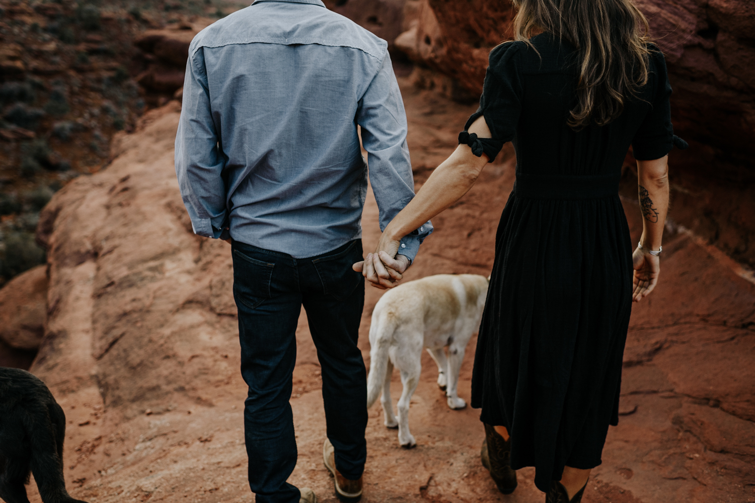 Couple and their Dogs Pictures in Moab, Utah