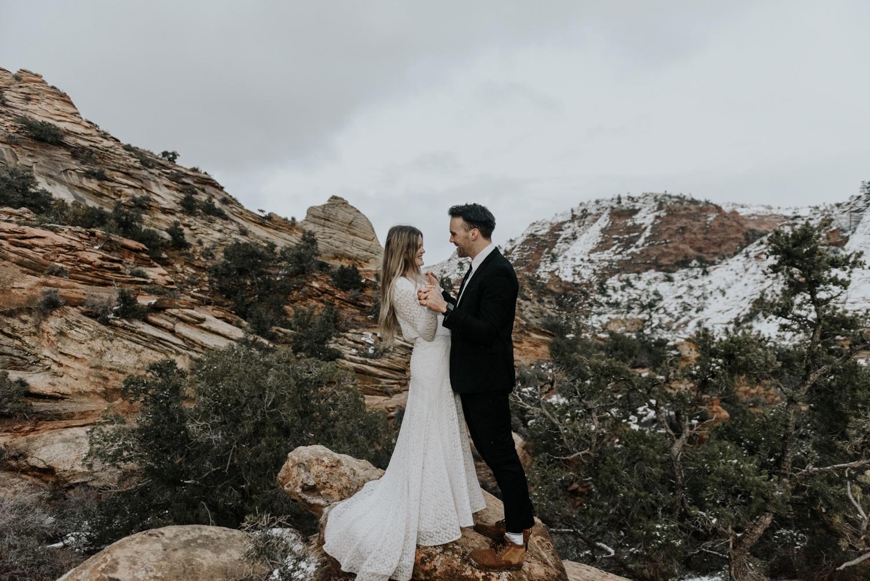 Zion National Park Locations Photography Session Adventurous Couples