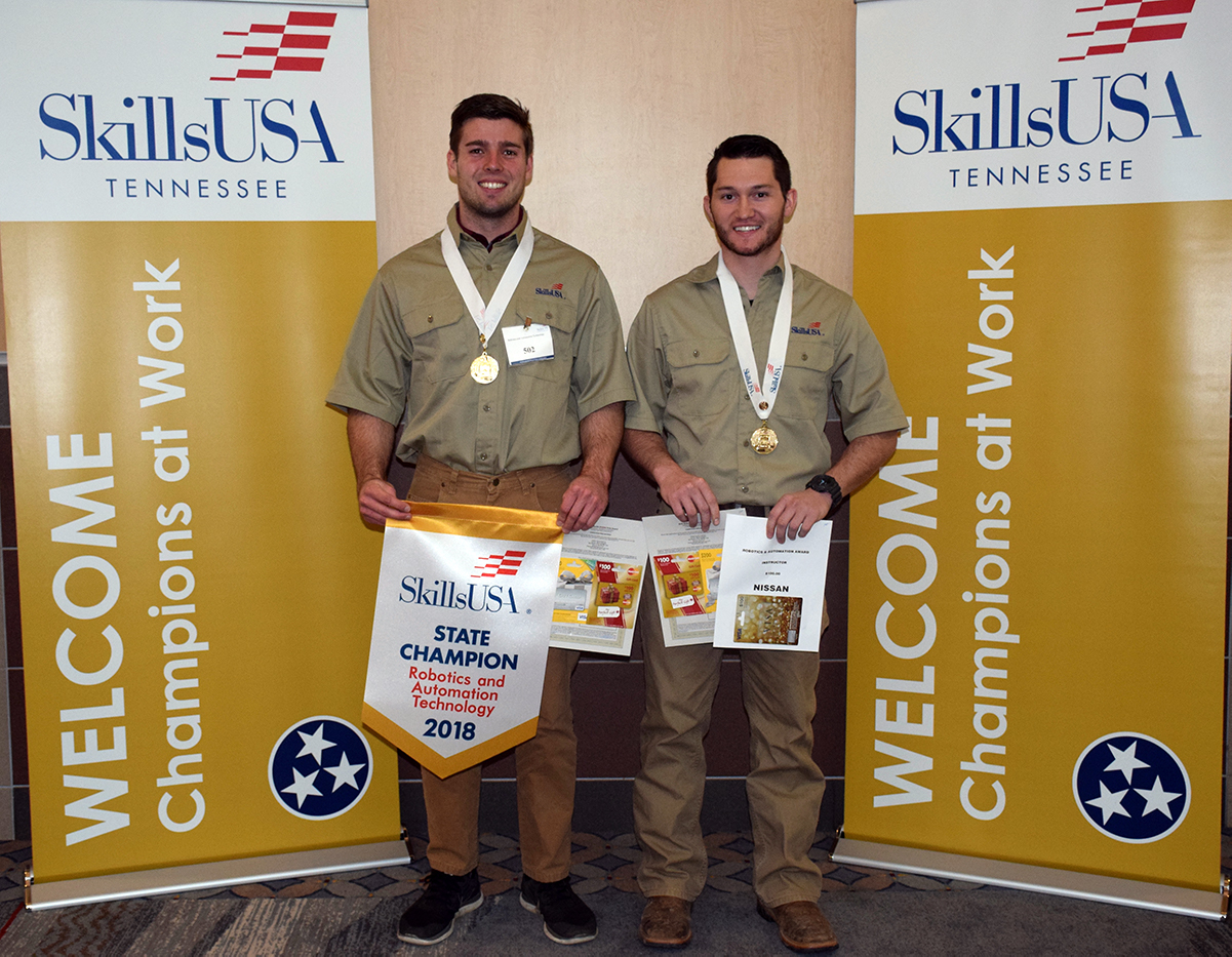 Benjamin Steakly, left, from Mount Juliet, and William (Alex) Cooper, from Shelbyville