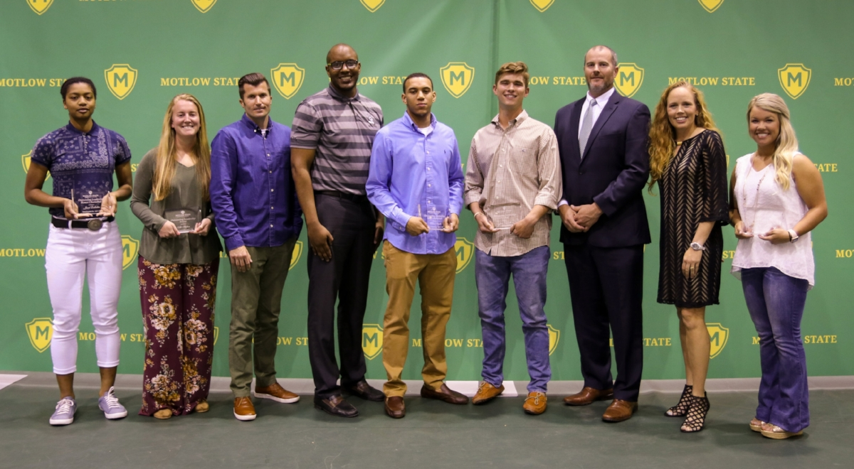 Student-athlete award winners and their coaches