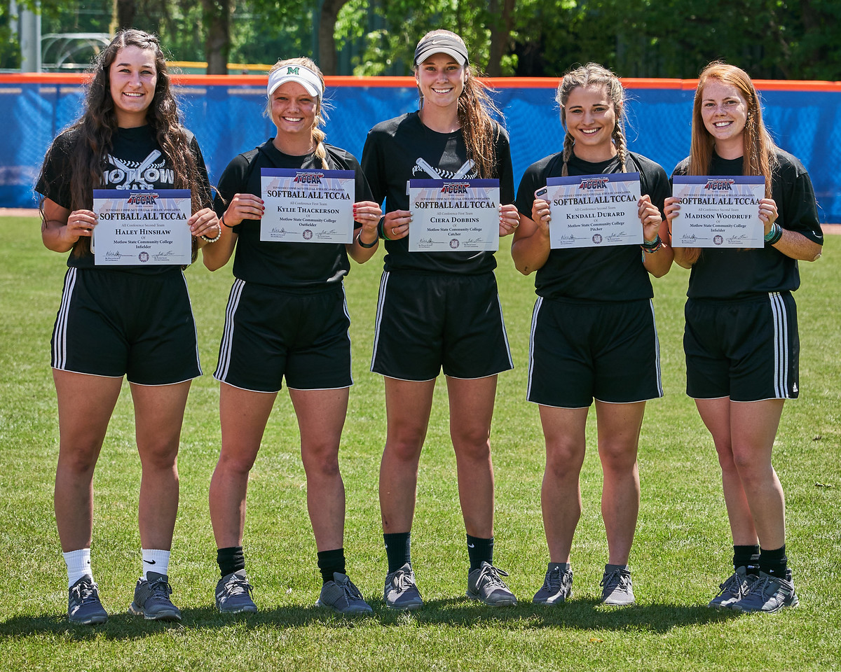 Five Motlow Lady Bucks were named to the regular season All-TCCAA conference team. From left; Haley Hinshaw, Kylie Thackerson, Ciera Dobbins, Kendall Durard and Madison Woodruff.
