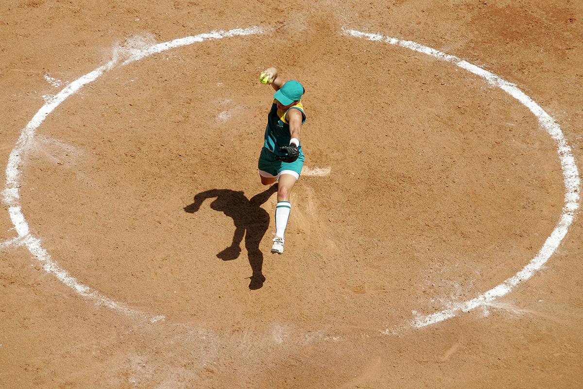 Soft ball pitcher