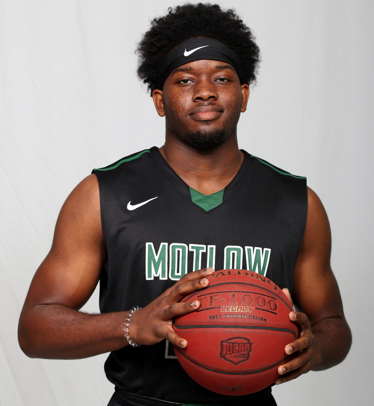 Marcus Lacey, a redshirt-freshman from Madison, Ala., announced his arrival to the junior college basketball world Friday night, scoring 26 points with 16 rebounds during Motlow's 76-71 loss to Georgia Highlands, The Bucks will host Jackson State this coming Friday and Columbia State Saturday.  Motlow Staff Photo.