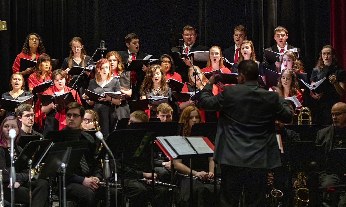Motlow State Community College's Vocal Ensemble and Community Band will be performing their annual Spring Concert on Thursday, April 25, on the Moore County campus in Powers Auditorium, Eoff Hall. Refreshments will be served at 6:00 p.m. in Eoff Hall lobby. The auditorium doors will open at approximately 6:30 p.m., and the concert will begin at 7:00 p.m. The concert is free, but reservations are suggested as seating is limited. Donations are welcome and will go to the Motlow music program. To make a reservation or donation, please contact Bobbie Spratlin at bspratlin@mscc.edu or (931) 393-1709.