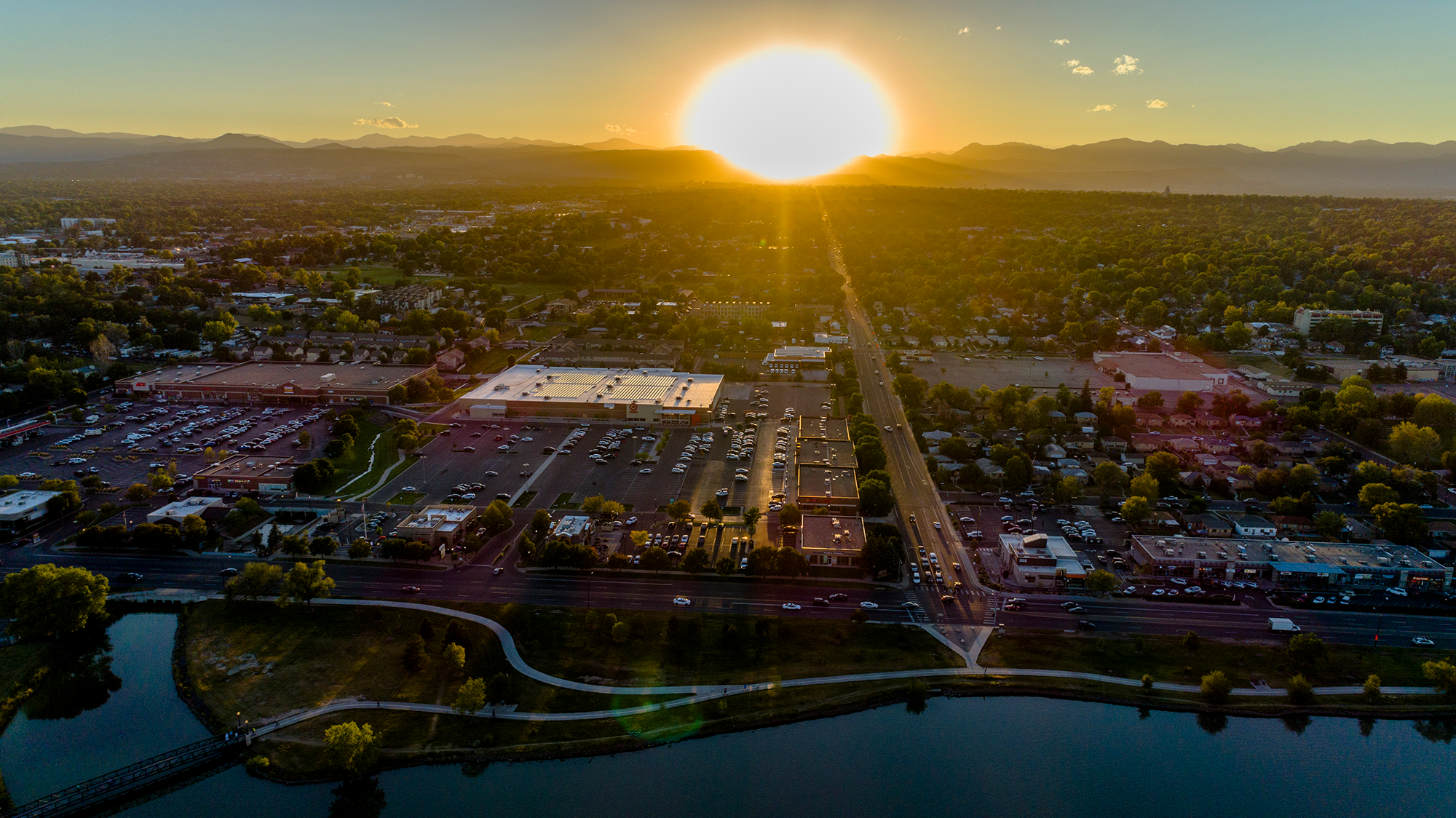 Sun over The Rockies