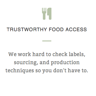 TRUSTWORTHY FOOD ACCESS