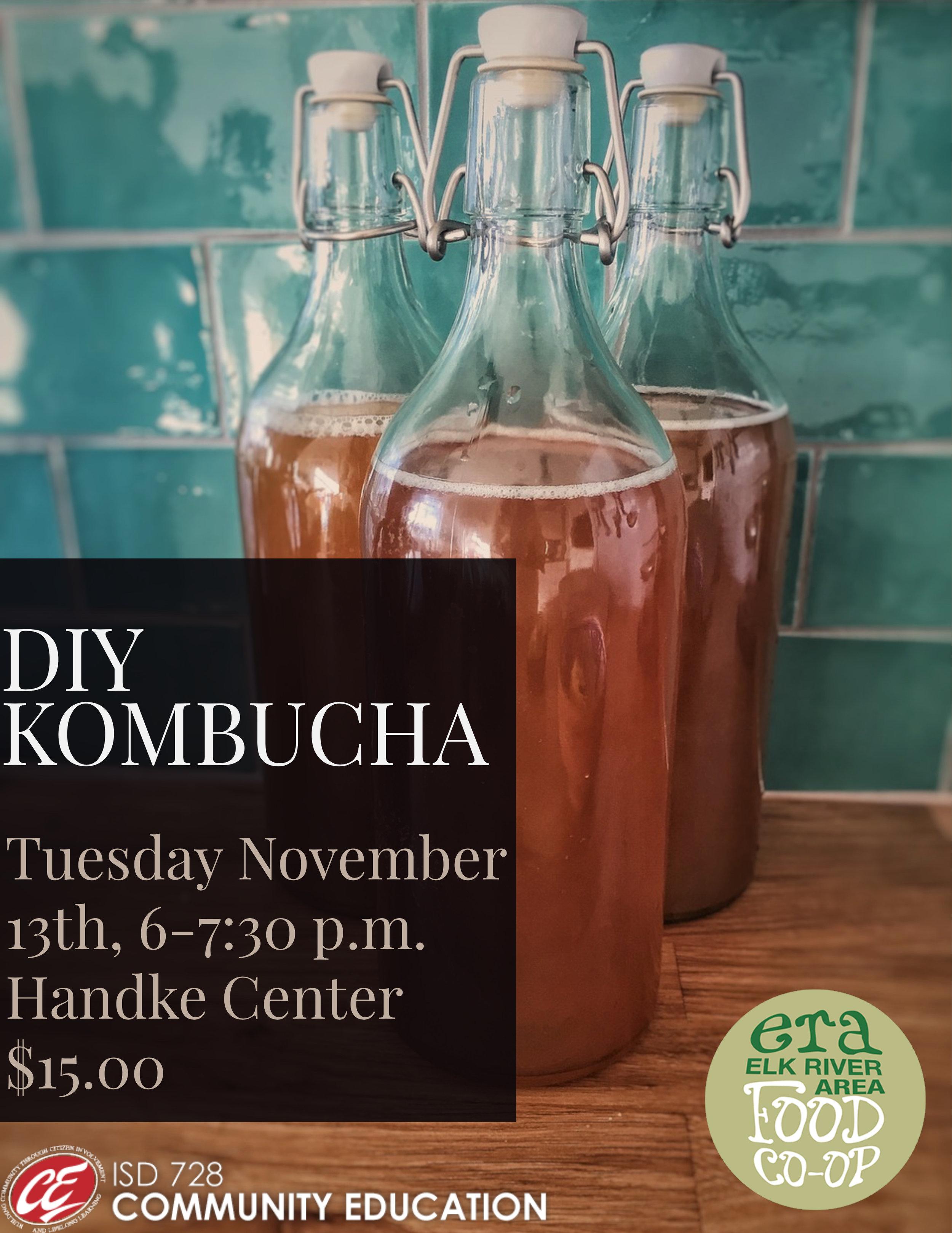 Elk River Area Food Co-op Community Class DIY Kombucha
