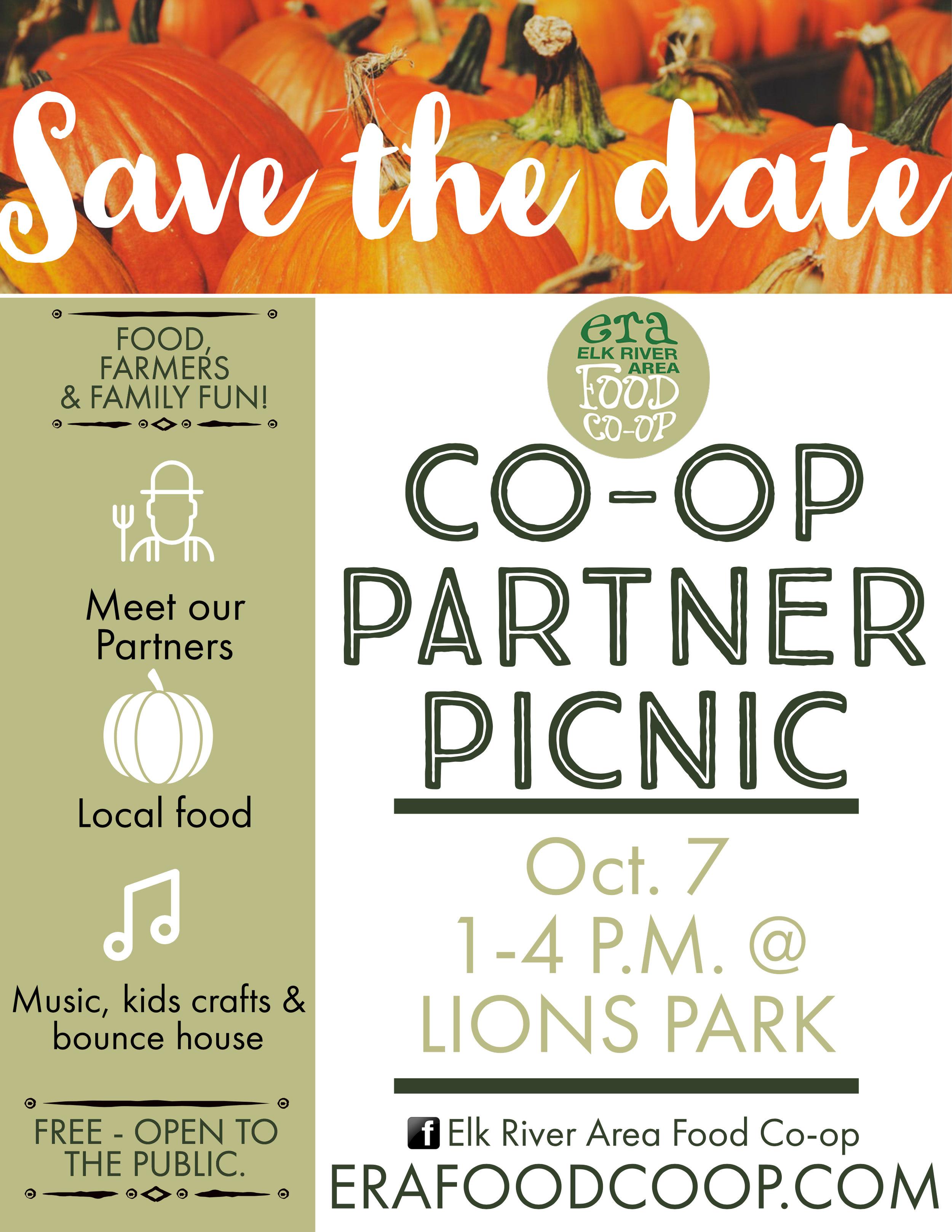 Elk River Area Food Co-op Partner Picnic