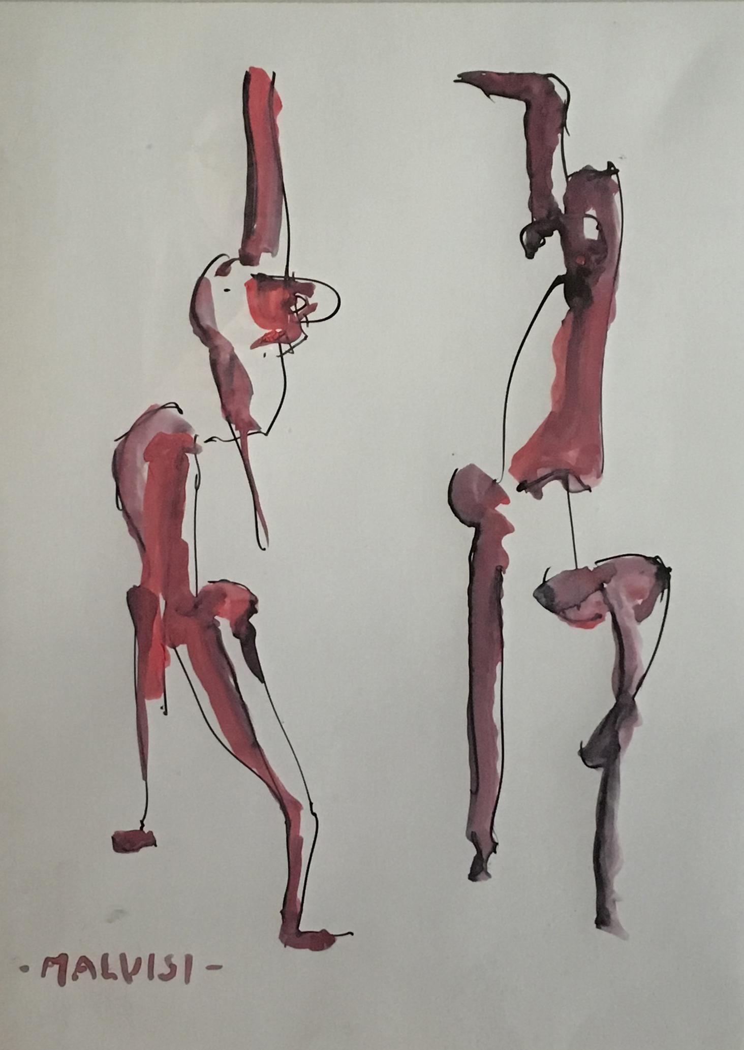 <b>The totality of the sign</b><br> (Orig.La totlita' del Segno) <br>2013 Watercolor ink <br> cm 35 x 50