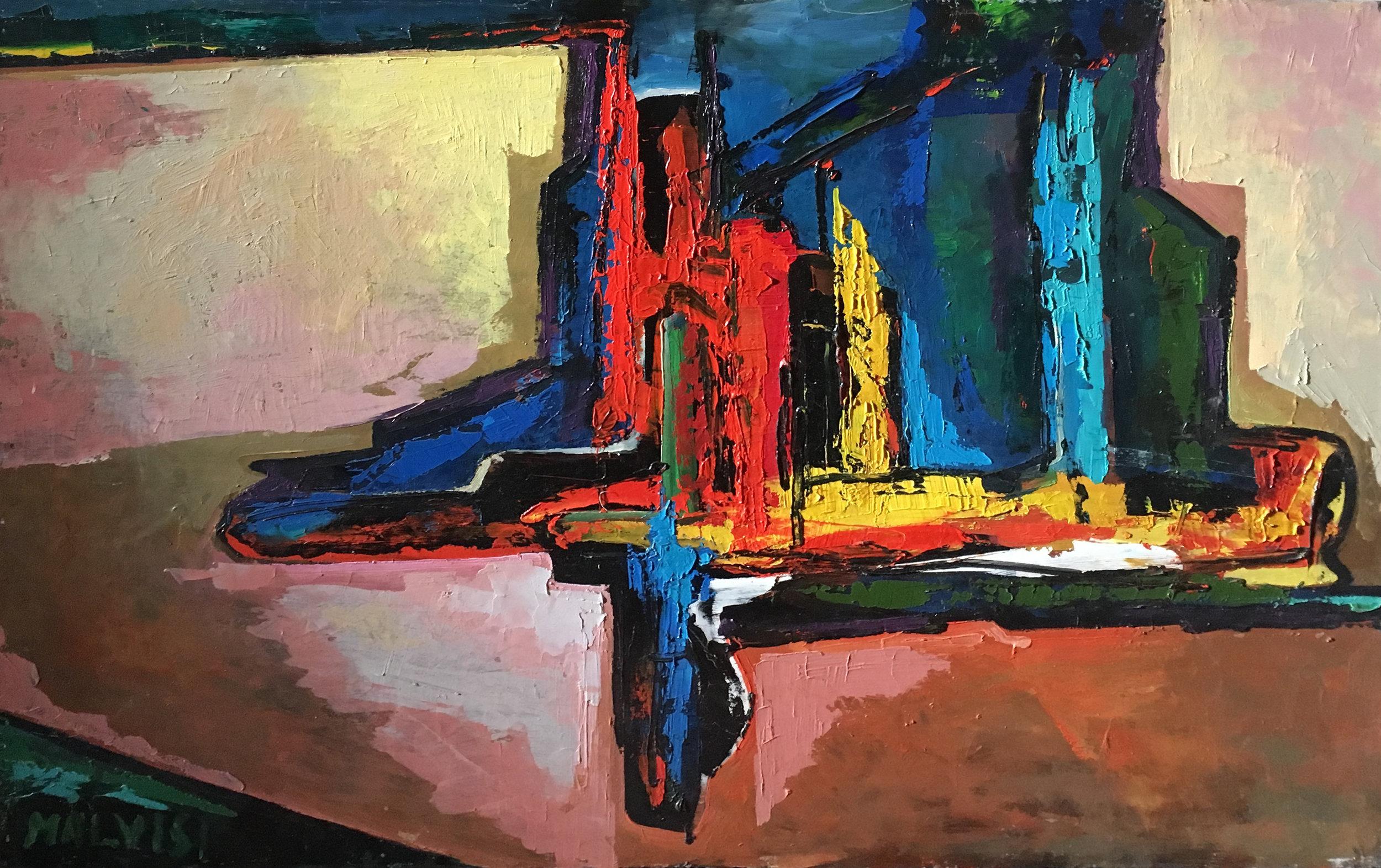 <b>Absolute! </b><br>(Orig.Assoluto!) <br> 1987 Oil on canvas<br> cm 70 x 100
