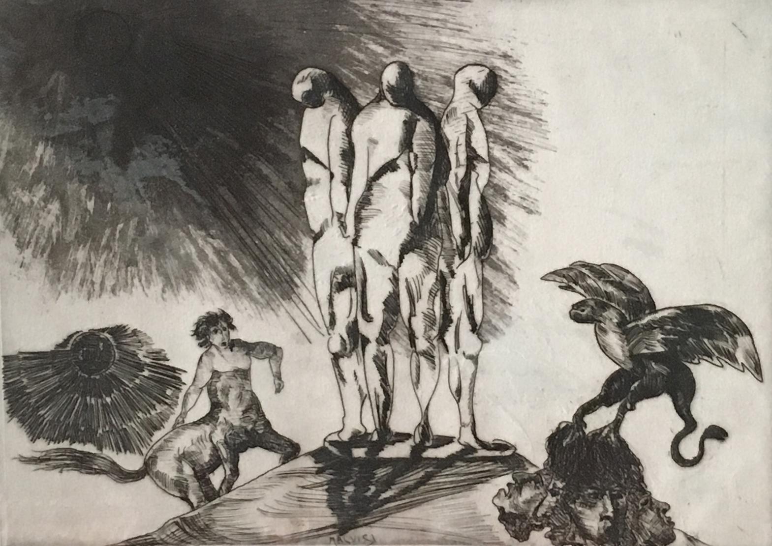 <b>Defenseless</b><br> (Orig.Senza difese) <br> 1988 Etching <br> cm 60 x 38