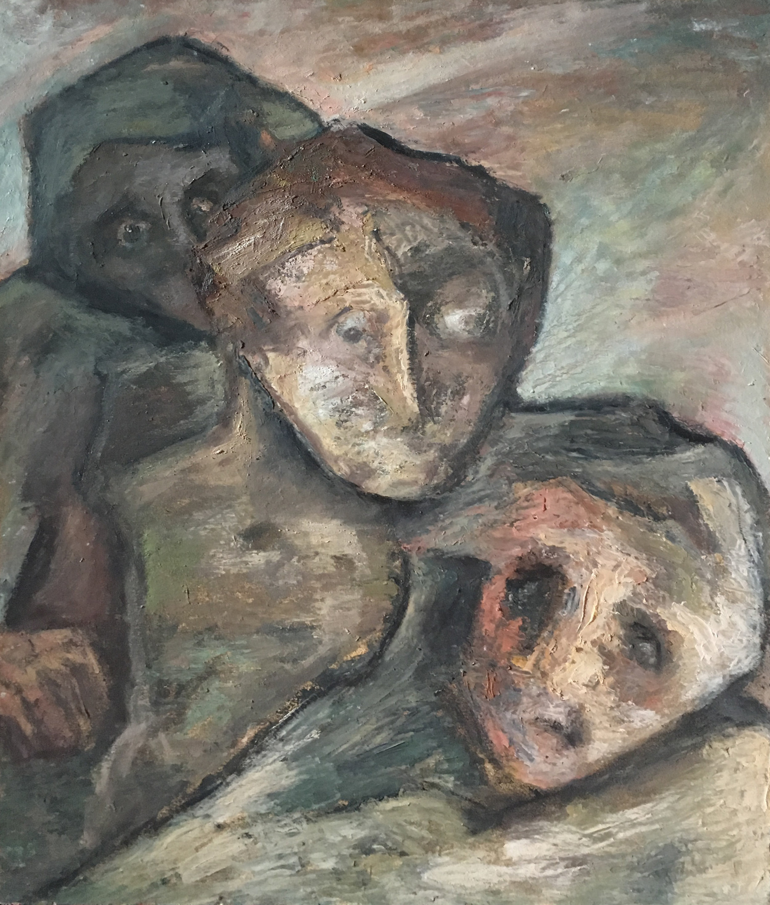 <b>Metamorphoses of the spirit</b><br> (Orig.Metamorfosi dello spirito) <br> 1974 Oil on wood <br> cm 60 x 80