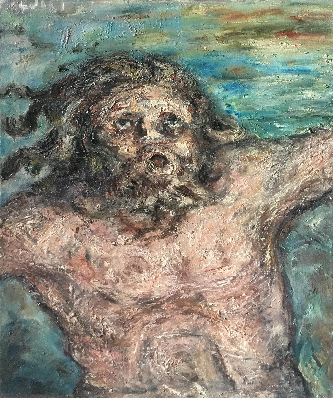 <b>Eli' ,Eli'lama' sabactani</b><br> 1974 Oil on canvas <br> cm 60 x 80