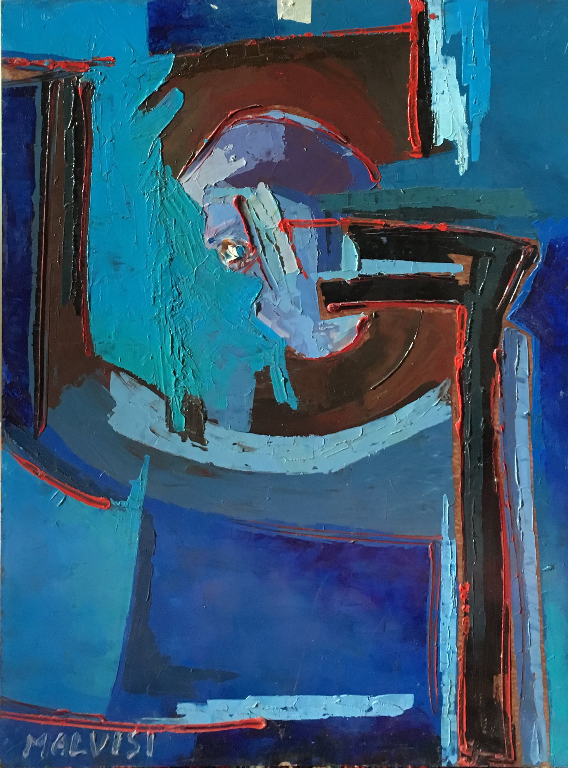 <b>Fragment of time</b><br> (Orig.Frammento di tempo) <br> 2001 Oil on wood <br> cm 60 x 80