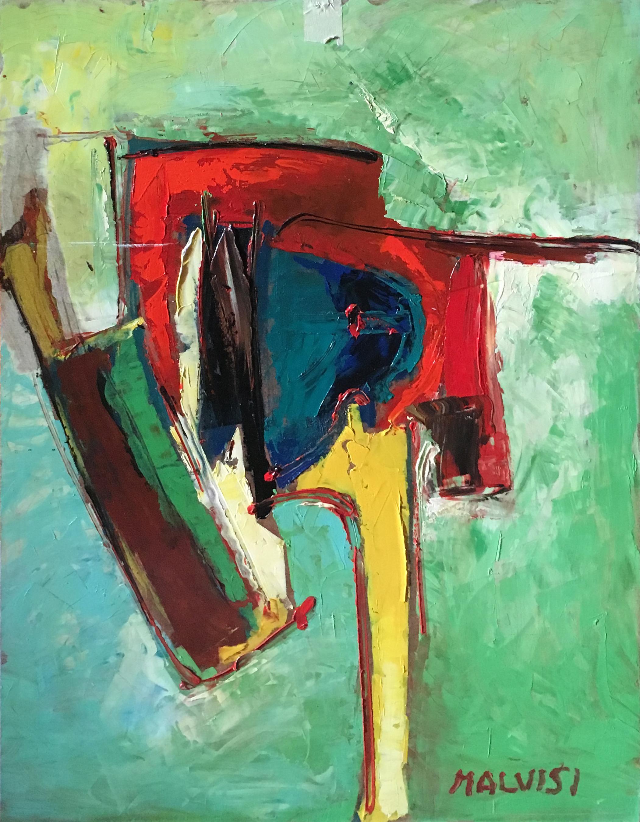 <b>Intimate essence</b><br>(Orig.Essenza intima) <br> 2007 Oil on wood <br> cm 50 x 70