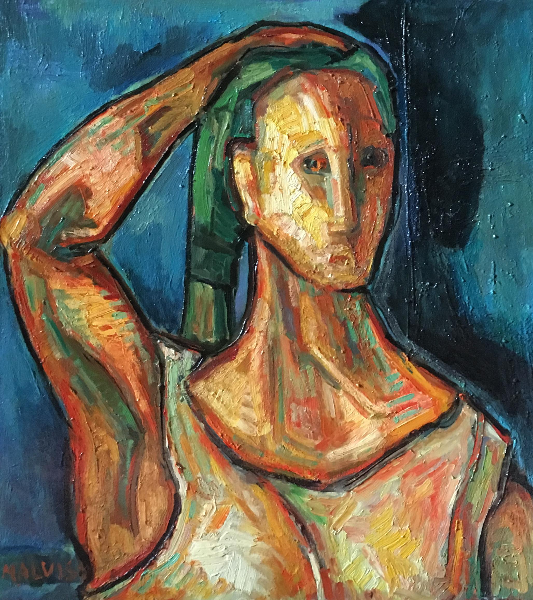 <b>Virago</b><br> 1973 Oil on canvas <br> cm 60 x 70