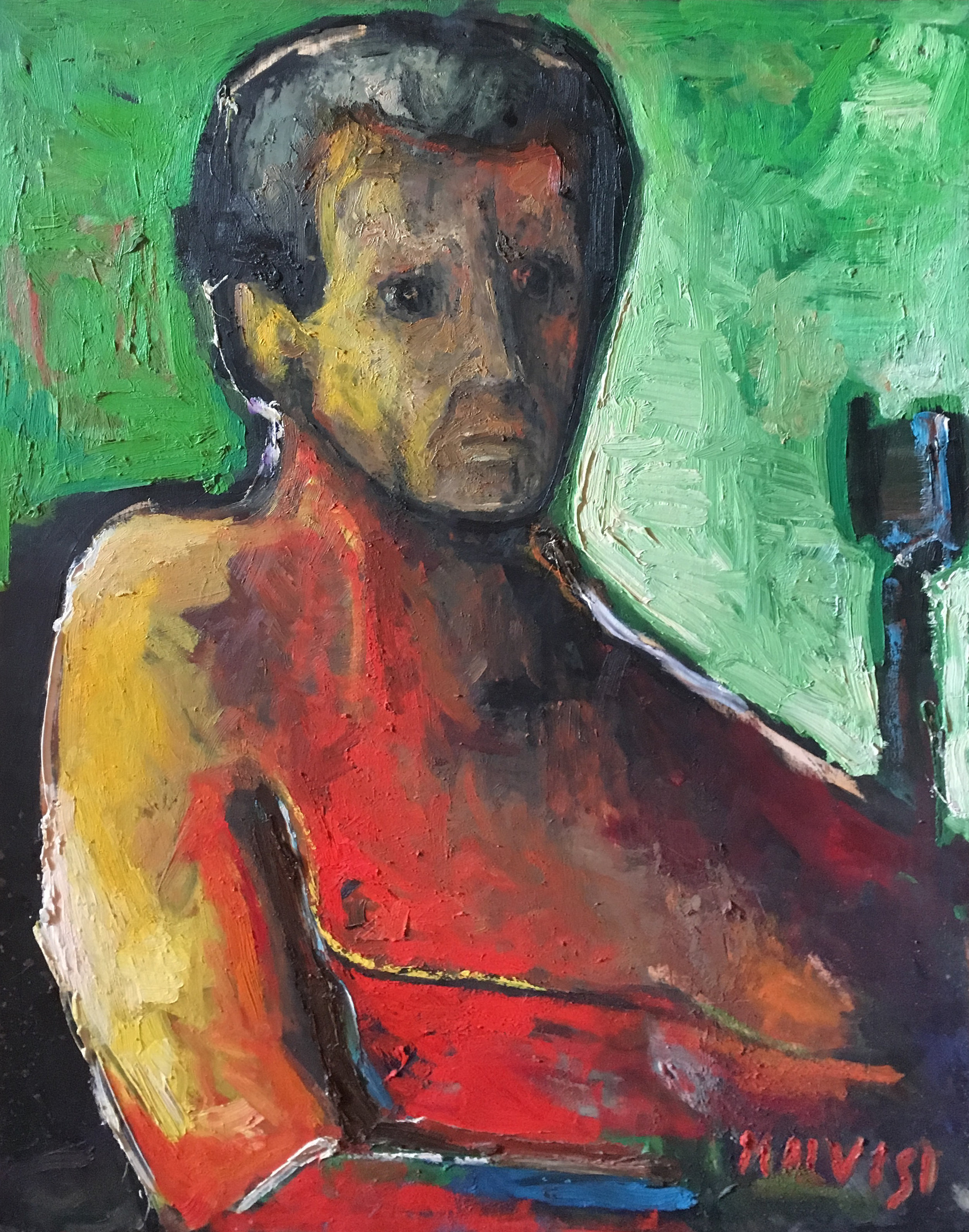 <b>Guglielmo</b><br> 1981 Oil on wood <br> cm 50 x 70