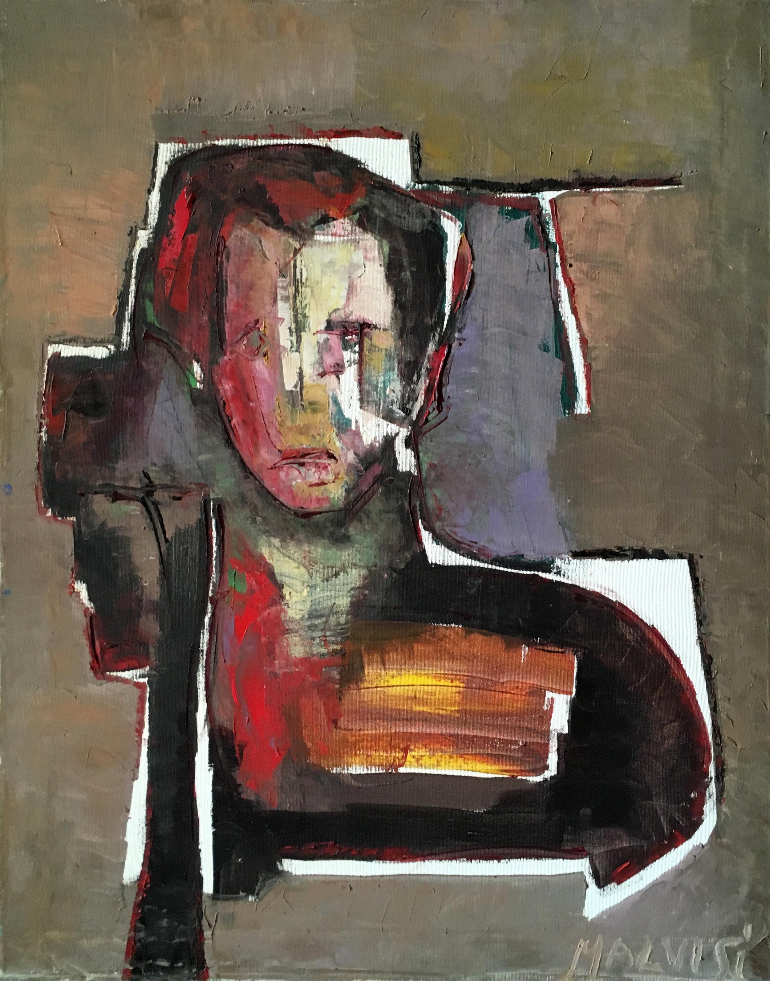 <b>Self-portrait</b><br> 1982 Oil on canvas <br> cm 60 x 80