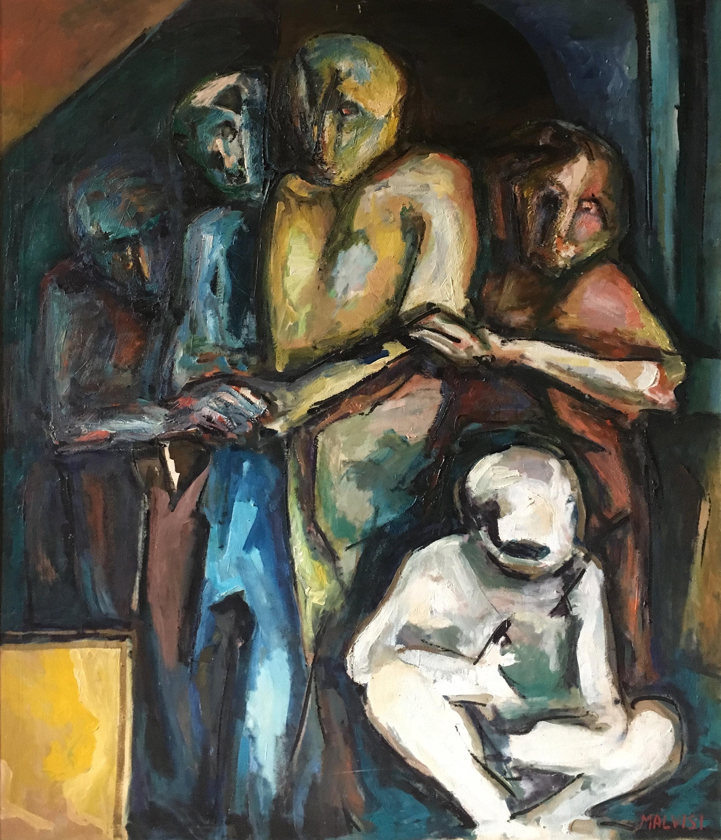 <b>Colloqium 2</b><br> 1984 Oil on canvas <br> cm 120 x 150