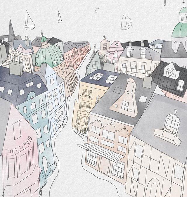 Cities are such beauties! Here's a work in progress from my sketchbook. #theprettycities . . . . . #travel #travelgoals #prettycity #illustratorsoninstagram #architect #visiteurope #drawingoftheday #sketch #sketchbook #watercolor #watercolour #wip #workinprogress #lancasterpa