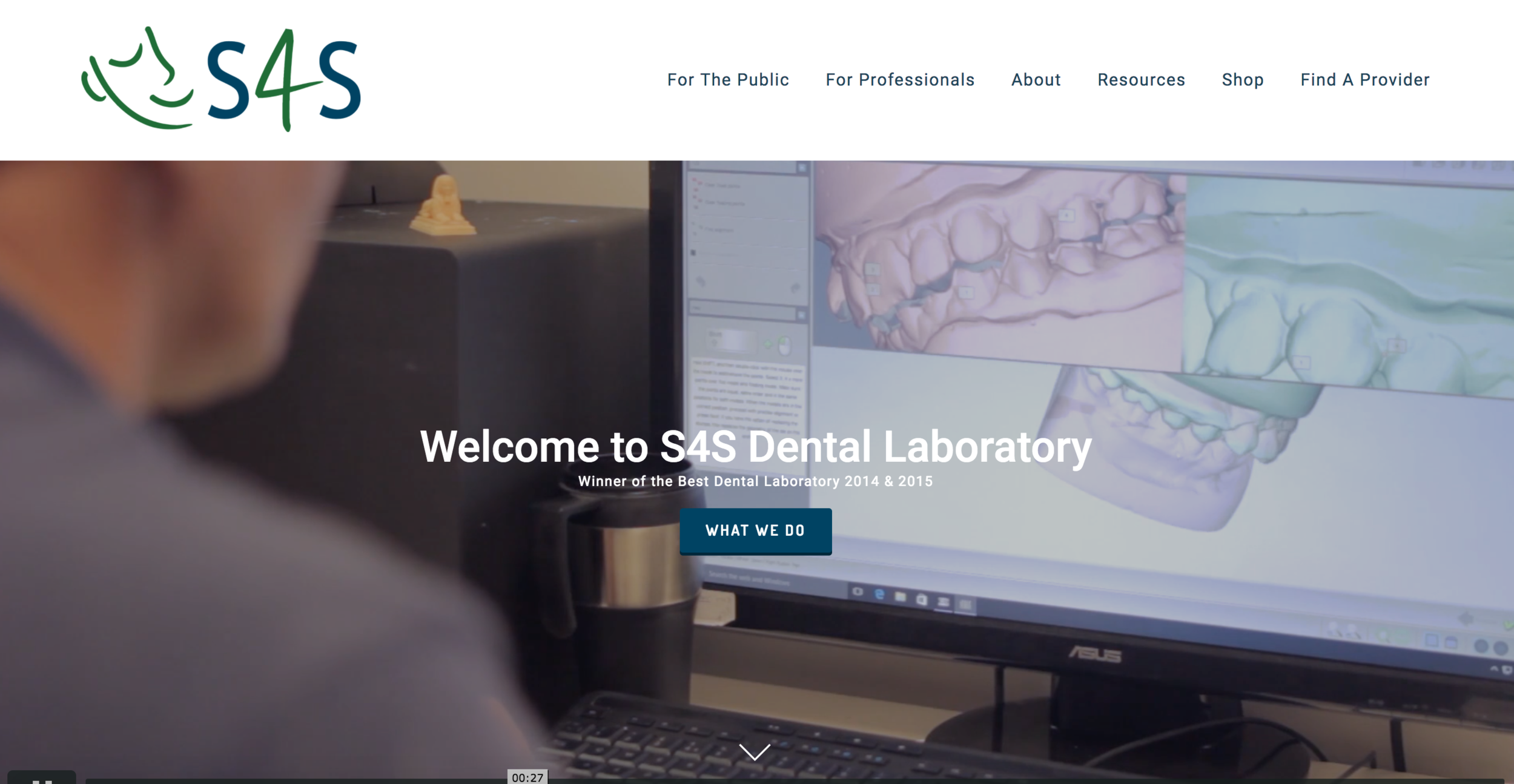 S4S Dental - An engaging video backdrop, online store, product examples, testimonial videos, responsive and linked to their active social media profiles. A great website to complement the best dental lab in the UK.www.s4sdental.com