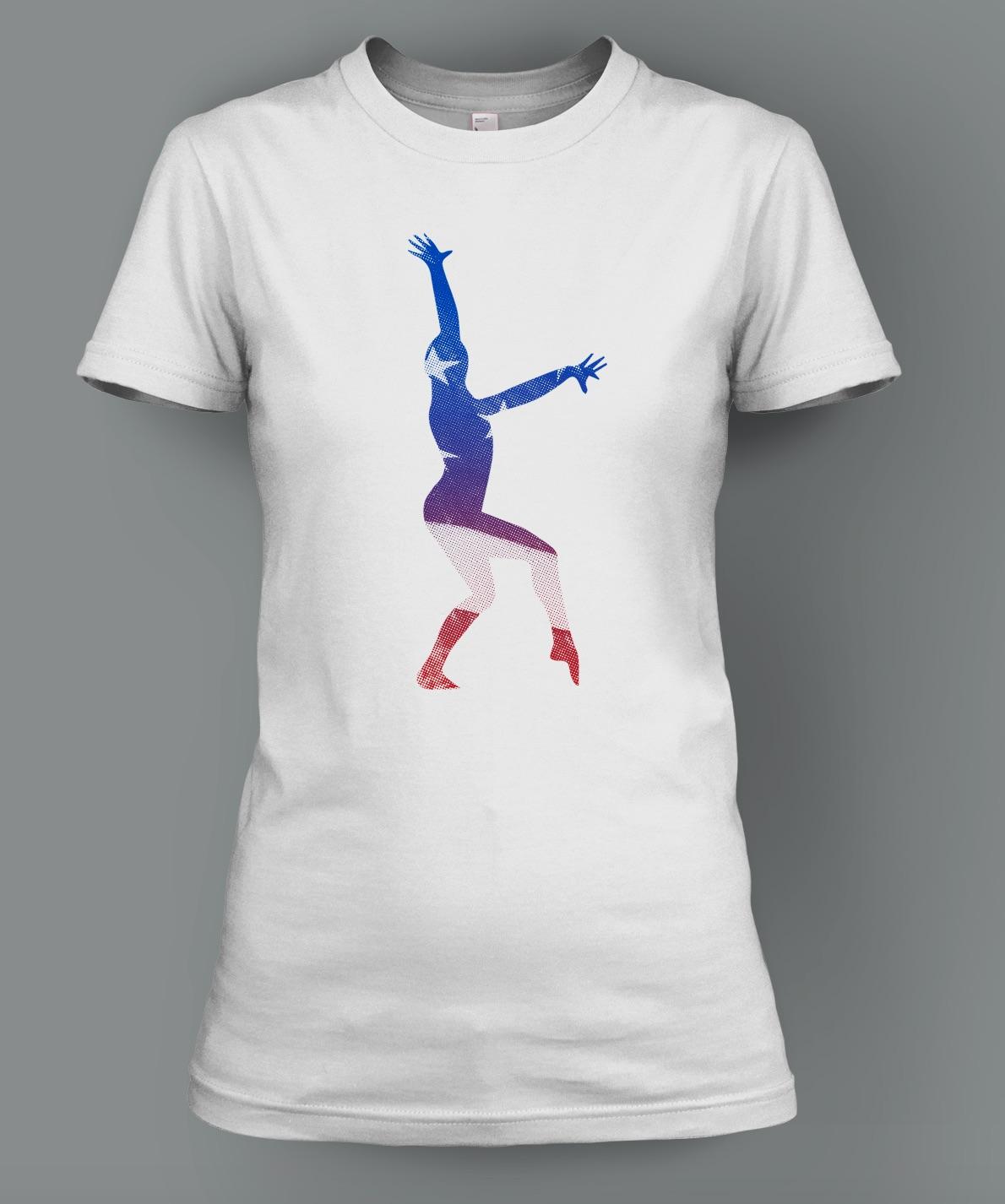 Patriotic Dominique Moceanu Signature T-Shirt: $26.00