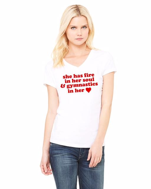Gymnastics T-Shirt with Heart: $26.00