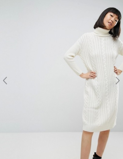 ASOS Knitted Midi Dress in Cable Stitch