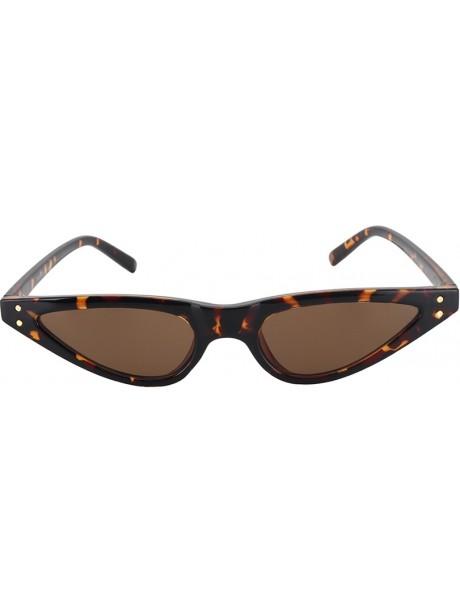 Tortoiseshell narrow sunglasses