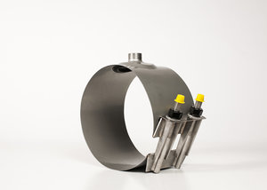 """For 6/"""" Nominal Pipe Details about  /ROMAC CL1-7.24 x 12 Repair Clamp OD Range 6.84-7.24"""