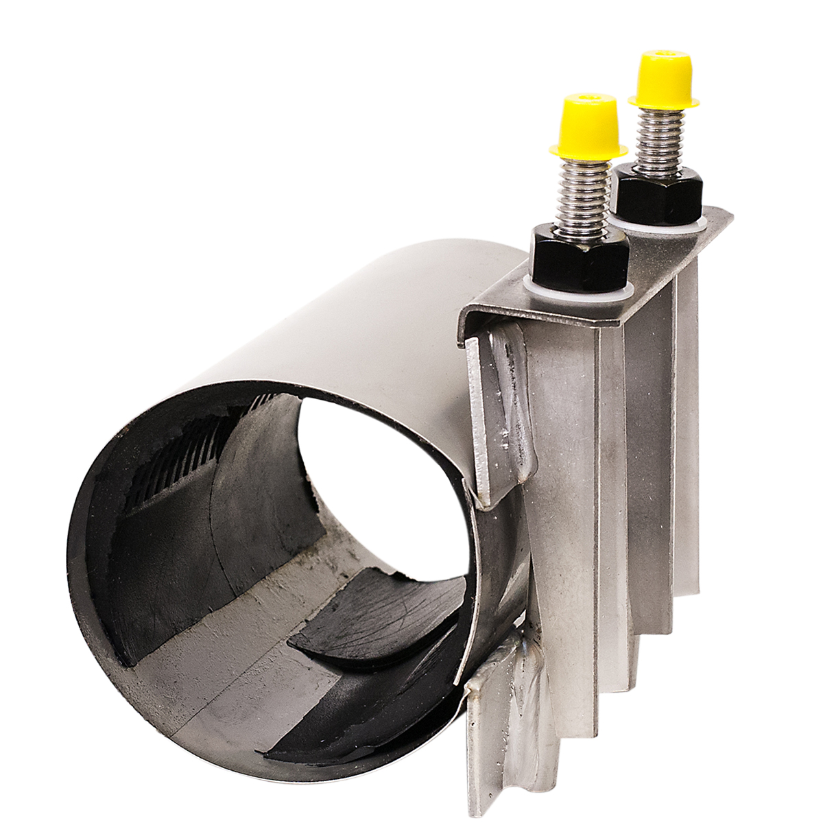 CLC - Stainless steel collar leak clamp. Used to repair leaking solvent welds.Nominal Sizes2 - 4 inchesWorking PressureUp to 150 psiPipe CompatibilityPlastic pipe