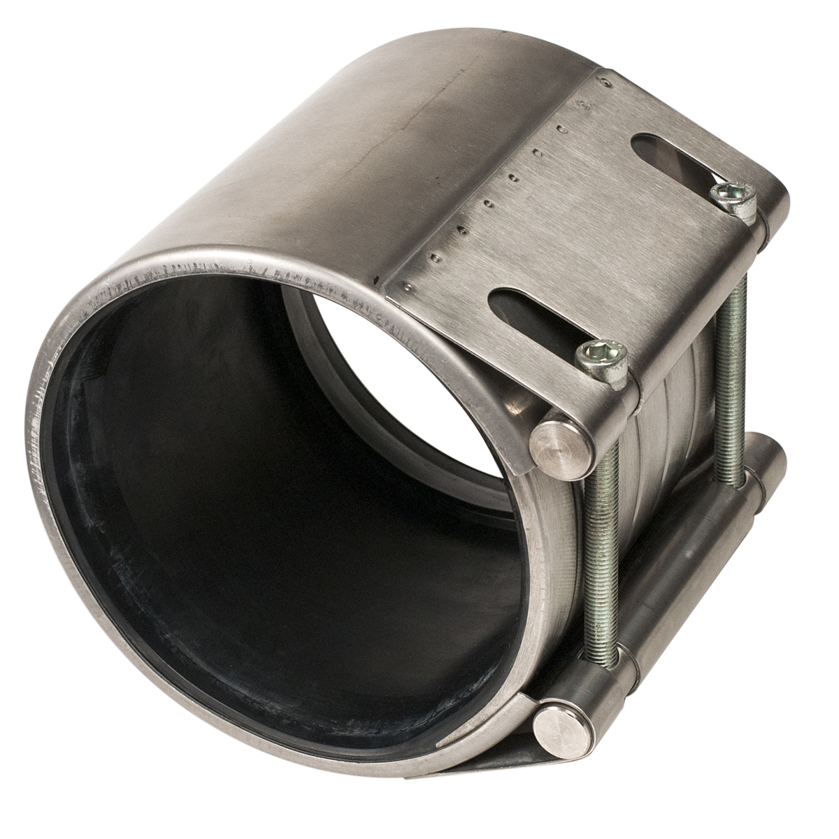 ARMOR LINK - Stainless steel pipe coupling with hydrostatic gasket.Nominal Sizes4 - 24 inchesWorking PressureSee catalog pagePipe CompatibilitySteel, cast iron, ductile iron, asbestos cement, concrete,PVC, HDPE