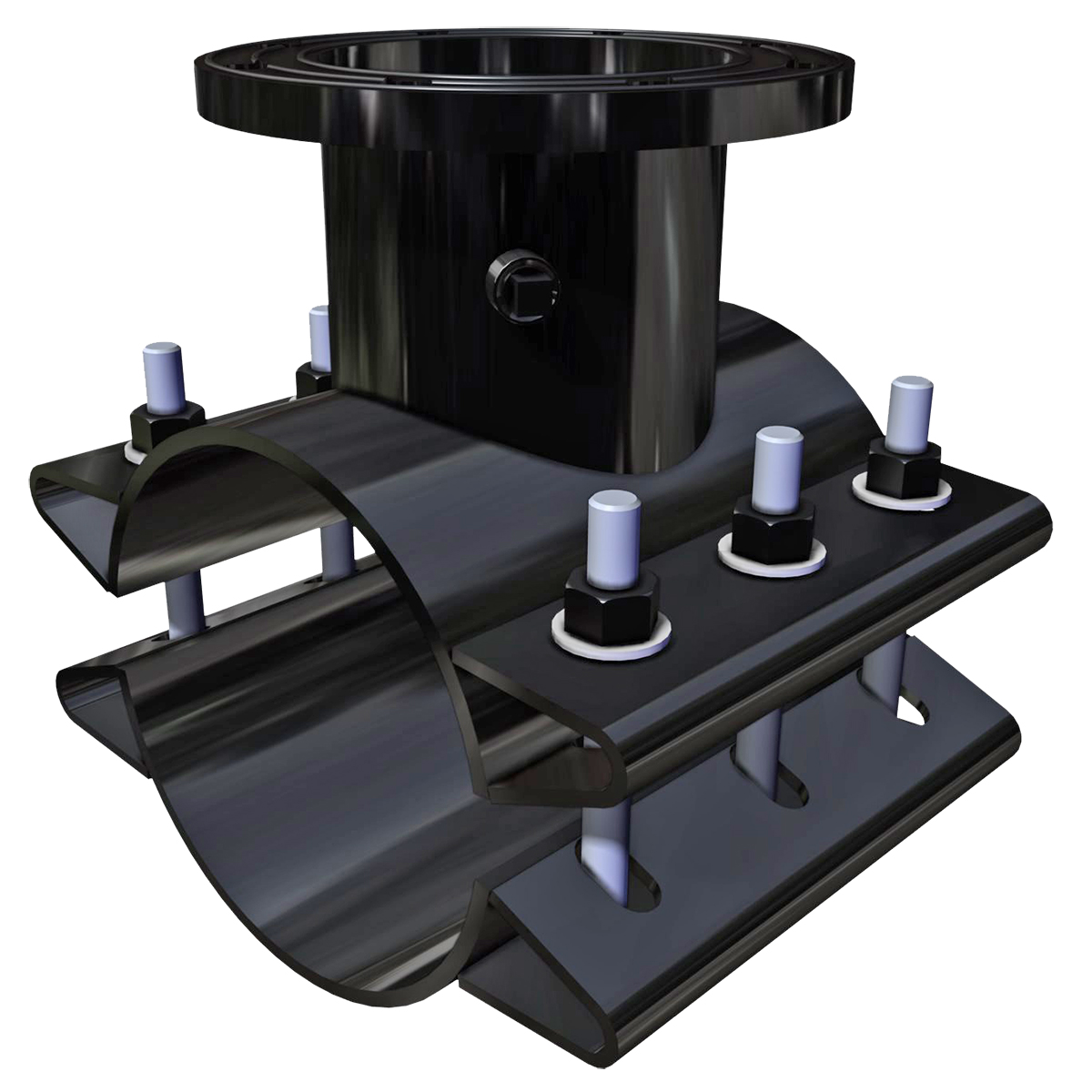 FTS420 - Fabricated steel tapping sleeve with drop-in bolts