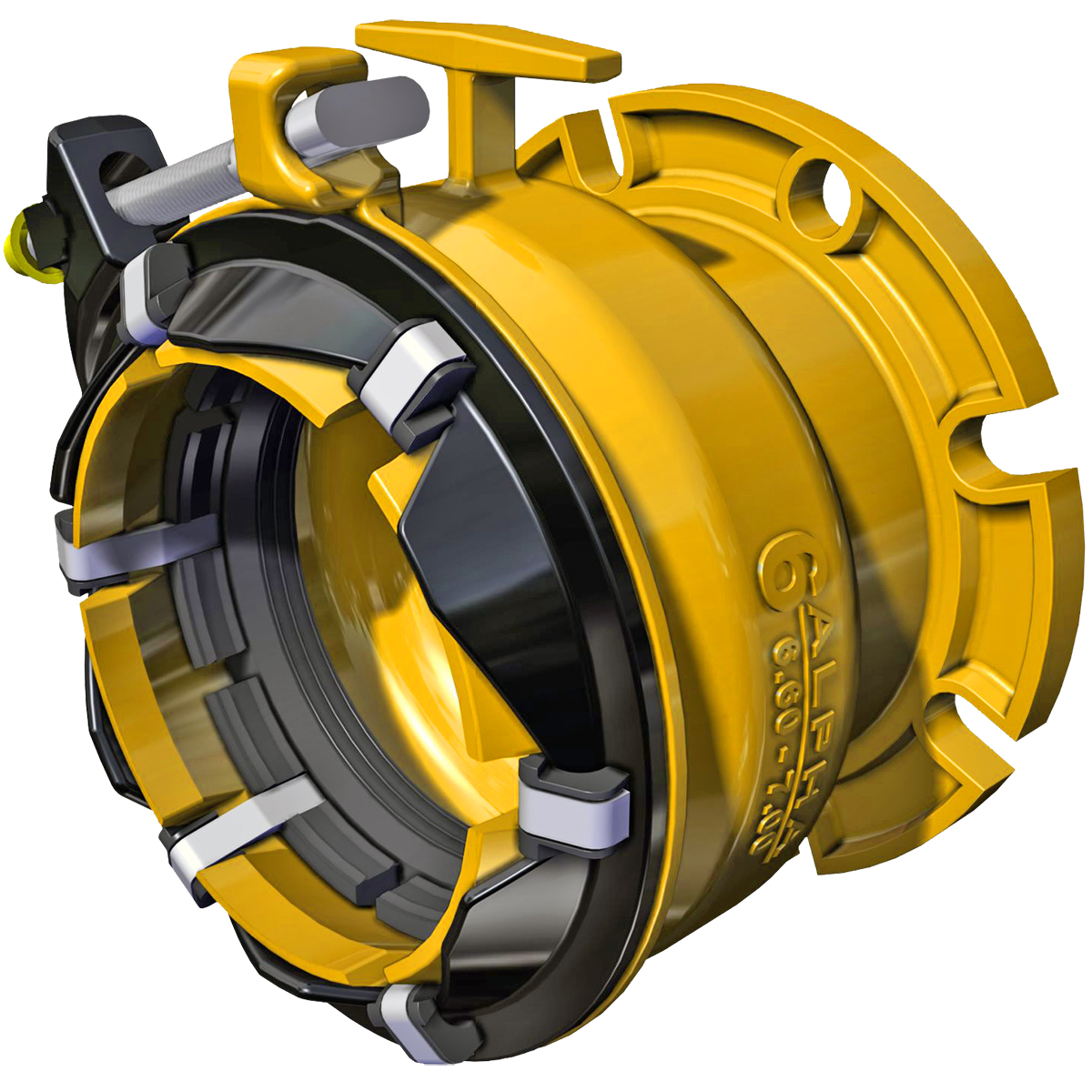 ALPHA FC - Wide range, restrained flanged coupling adapter