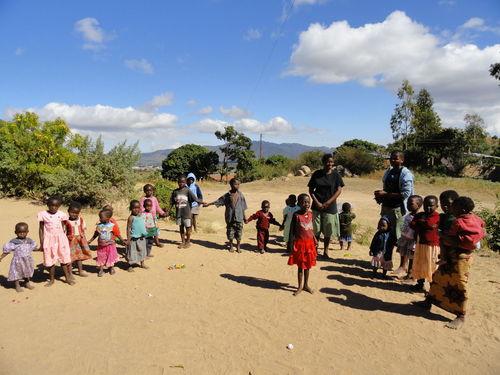 Children singing in Malawi
