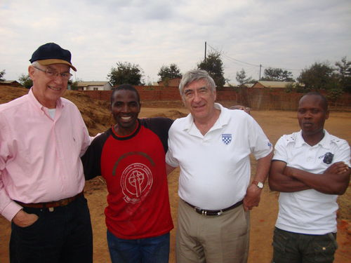 Tom and Don with friends from Ministry of Hope